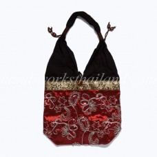 Thai Silk And Cotton Shoulder Bag 01