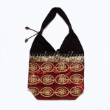 Thai Silk And Cotton Shoulder Bag 03