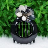 Flower Shell Hair Clip (Grey)