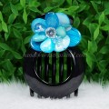 Flower Shell Hair Clip (Sky Blue)
