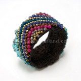 Triangular Pattern Bangle (Turquoise)