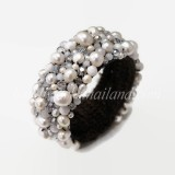 Freshwater Pearl Bangle (White)