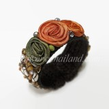 Silk Flower Bangle (Orange 01)