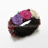 Silk Flower Bangle (RED)