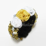 Silk Flower Bangle (Yellow 01)