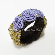 Silk Flower Bangle (Yellow 02)