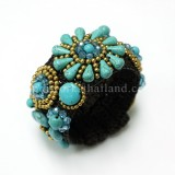 Sunflower Bangle (Sky Blue)