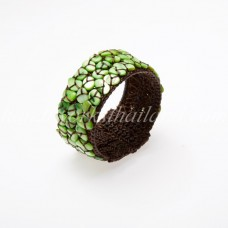 Shell Beads Bangle (Green)