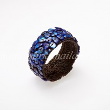 Shell Beads Bangle (Blue)