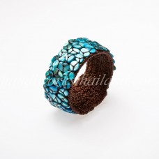 Seashell Beads Bangle (Sky Blue)