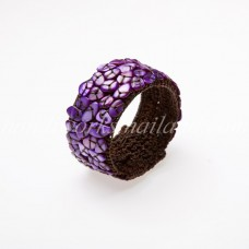 Shell Beads Bangle (Purple)