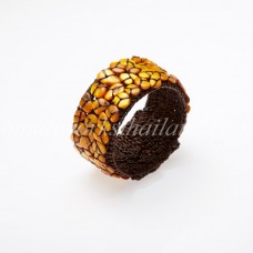 Shell Beads Bangle (Yellow)