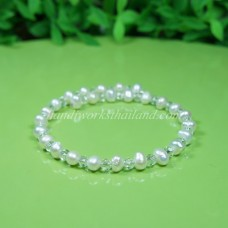 Freshwater Pearl Spring Bangle 02