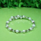 Freshwater Pearl Spring Bangle 07