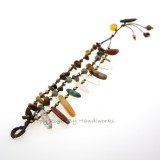 Rice Bead Stone Cotton Wax Bracelet (MIX)