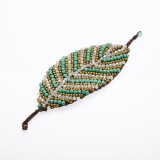Leaf shaped bracelet  (Turquoise)