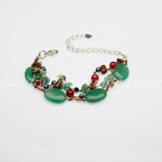 Oval Shaped Stone Bracelet (Light Green)