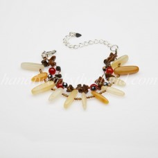 Rice Shaped Carnelian Bead bracelet