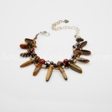 Rice Shaped Tiger Eye bracelet