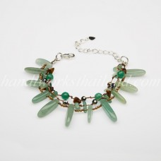 Rice Shaped Jade Bead bracelet