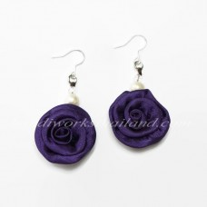 Silk Earring (Dark Purple)