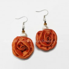 Silk Earring (Orange)