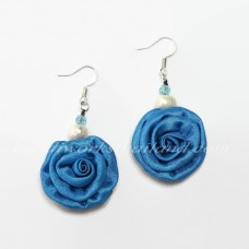 Silk Earring (Sky Blue)