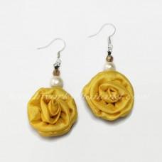 Silk Earring (Yellow)