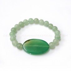 Stone Jade 8mm with Agate Stone