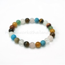 lucky stone bracelet 8 mm. Mix Stone