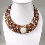 Half Moon Necklace (Brown)