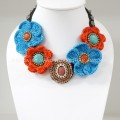Crochet Flower Necklace 02-MIX07