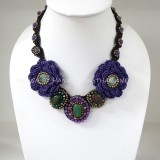 Crochet Flower Necklace 03-MIX01