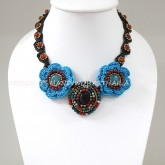 Crochet Flower Necklace 03-MIX02