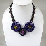 Crochet Flower Necklace 04-MIX02