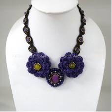 Crochet Flower Necklace 04-MIX02