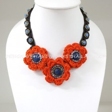 Crochet Flower Necklace 04-MIX04