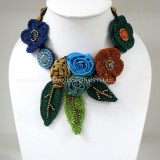 Crochet Flower Necklace 06-MIX01