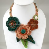 Crochet Flower Necklace 06-MIX03
