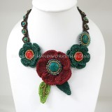 Crochet Flower Necklace 06-MIX05