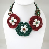 Crochet Flower Necklace 07-MIX01