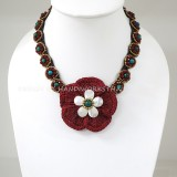 Crochet Flower Necklace 07-MIX02