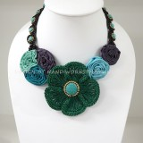 Crochet Flower Necklace 08-MIX02