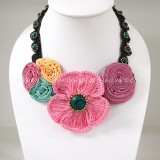 Crochet Flower Necklace 08-MIX03