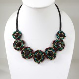 7 Round beads necklace (Mix01)