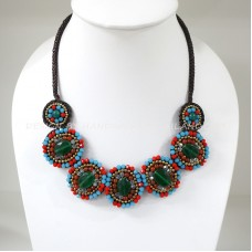 7 Round beads necklace (Mix03)