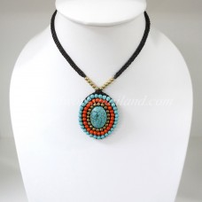 Pendant Necklace (Orange)
