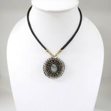 Pendant Necklace (Brown)