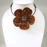 Flower Choker Necklace (ํBrown)