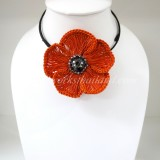 Flower Choker Necklace (ํOrange)
